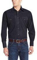 Wrangler Men's George Strait Two Pocket Long Sleeve Snap Shirt