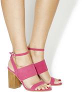 Pink Block Heel Sandal - ShopStyle UK