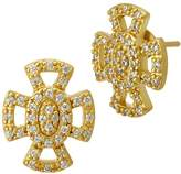 Freida Rothman Open Pave Maltese Stud Earrings