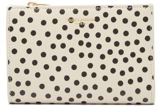 Saint Laurent Polka-dot Print Leather Wallet - Cream Multi