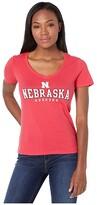 Champion College Nebraska Cornhuskers University V-Neck Tee (Scarlet 4) Women's T Shirt