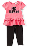 Kate Spade Baby Girls 12-24 Months Miss Behavior Peplum Top & Leggings Set