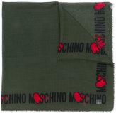 Moschino heart logo scarf