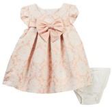 Iris & Ivy Metallic Jacquard Bow Dress (Baby Girls 12-24M)