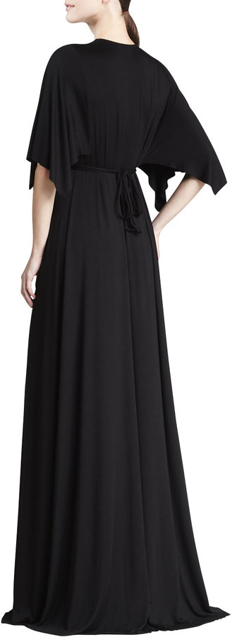 Rachel Pally Solid Black Caftan Maxi Dress, Women's
