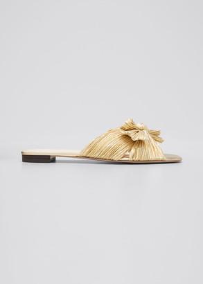 Loeffler Randall Daphne Metallic Knotted Slide Sandals