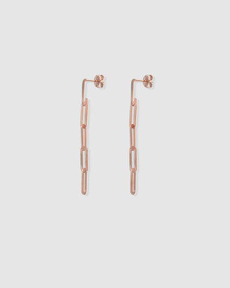 Ca Jewellery Link Chain Drop Earrings Rose