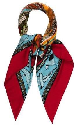 Hermes Cashmere & Wool-Blend Shawl