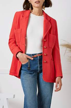 Chanel Cruise 1993 Coral Tweed Jacket