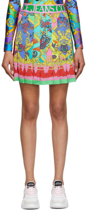 Versace Jeans Couture Multicolor Paisley Fantasy Miniskirt