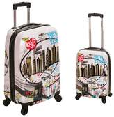 Rockland 2pc Polycarbonate/ABS Upright Luggage Set - New York