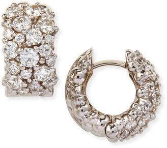 Paul Morelli Large White Diamond Confetti Hoop Earrings
