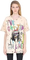 Patricia Field Art Fashion Tom Tom Hand Painted On Line 1 T-Shirt