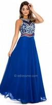 Decode 1.8 Royal Beaded Sheer Racer Back Prom Dress