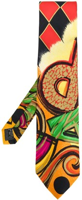 Versace Pre Owned Abstract Print Tie