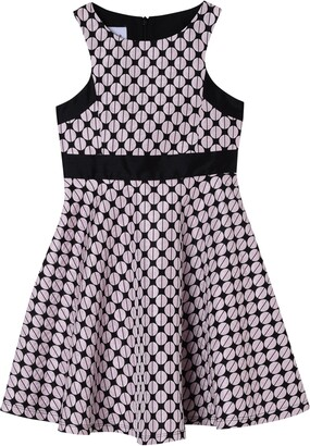 Pippa & Julie Dot Jacquard Skater Dress