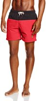 Urban Classics Block Swim Shorts Black Red TB 1026 Schwimmhose Badehose blk red Rot Größe XXL