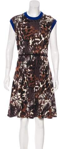 Yigal Azrouel Wool Patterned Dress w/ Tags