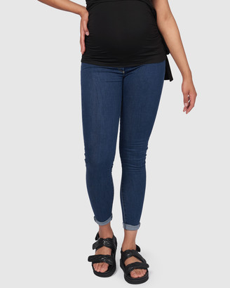 Pea in a Pod Maternity - Women's Blue Skinny - Margot Skinny Jeans - Size One Size, 6 at The Iconic