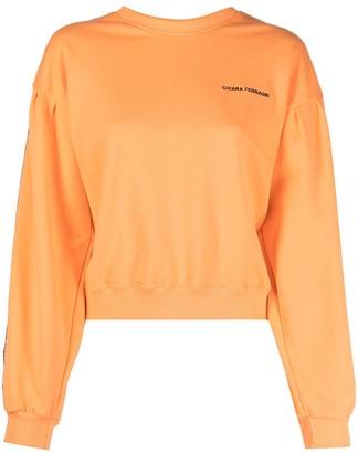 Chiara Ferragni Logo-Panel Cotton Sweatshirt