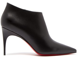 Christian Louboutin Gorgona 85 Leather Ankle Boots - Black