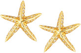 Roberto Coin Tiny Treasures 18k Diamond Starfish Stud Earrings