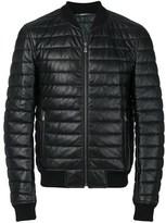 Dolce & Gabbana Dolce E Gabbana Men's Black Leather Outerwear Jacket.
