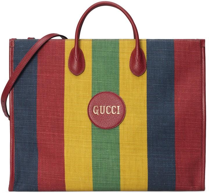 Gucci Baiadera stripe tote bag