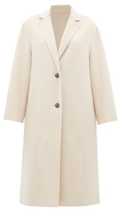 Joseph Newman Single-breasted Wool-blend Coat - Womens - Light Pink