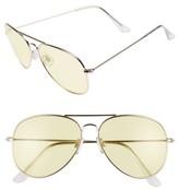 BP Women's 67Mm Colored Aviator Sunglasses - Yellow