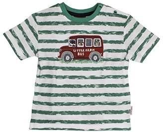 Salt&Pepper Salt and Pepper Baby Boys' B T-Shirt L. Farm Stripe Green 650