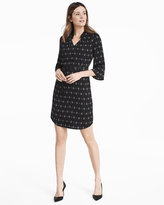 White House Black Market Soft Printed Shirt Dress