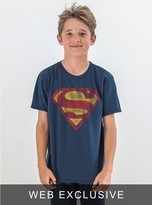 Junk Food Clothing Kids Boys Superman Tee-new Navy-l