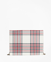 Brooks Brothers Plaid Leather Clutch