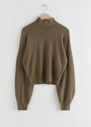 And other stories Cashmere Puff Sleeve Turtleneck