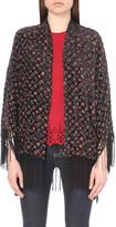 The Kooples Floral-print silk-blend kimono jacket
