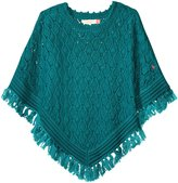 Pink Chicken Maude Poncho (Toddler/Kid) - Solid Emerald - 4/5 Years
