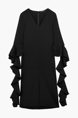 Ellery Reuben Ruffled Crepe Midi Dress