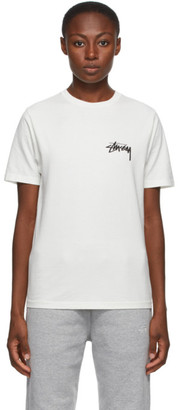Stussy White Peace and Love T-Shirt