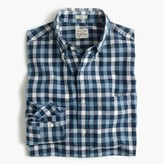 J.Crew Tall Secret Wash shirt in checked heather poplin
