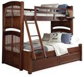Hillsdale Kids and Teen Walnut Street Hayden Twin/Full Bunk Bed with Trundle in Chestnut