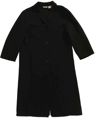 Barneys New York Black Wool Coats