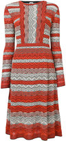 M Missoni knitted flared dress - women - Cotton/Polyamide/Polyester/Viscose - 42