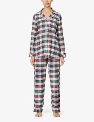 Lauren Ralph Lauren Check-print cotton-blend pyjama set
