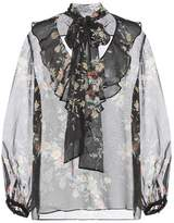 Zimmermann Floral-printed silk blouse