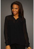 Kenneth Cole New York - Blouse w/ Layered Back (Black) - Apparel