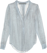 Raquel Allegra Rainwash tie-dye silk-chiffon blouse