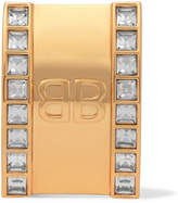 Balenciaga Gold-tone Crystal Clip Earrings - one size