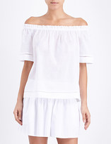 Seafolly Off-the-shoulder cotton-voile top