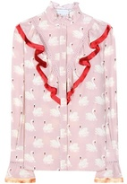Stella McCartney Ruffled Printed Silk Blouse